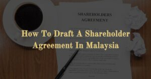 How To Draft A Shareholder Agreement