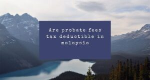 Read more about the article Are probate fees tax deductible in Malaysia?